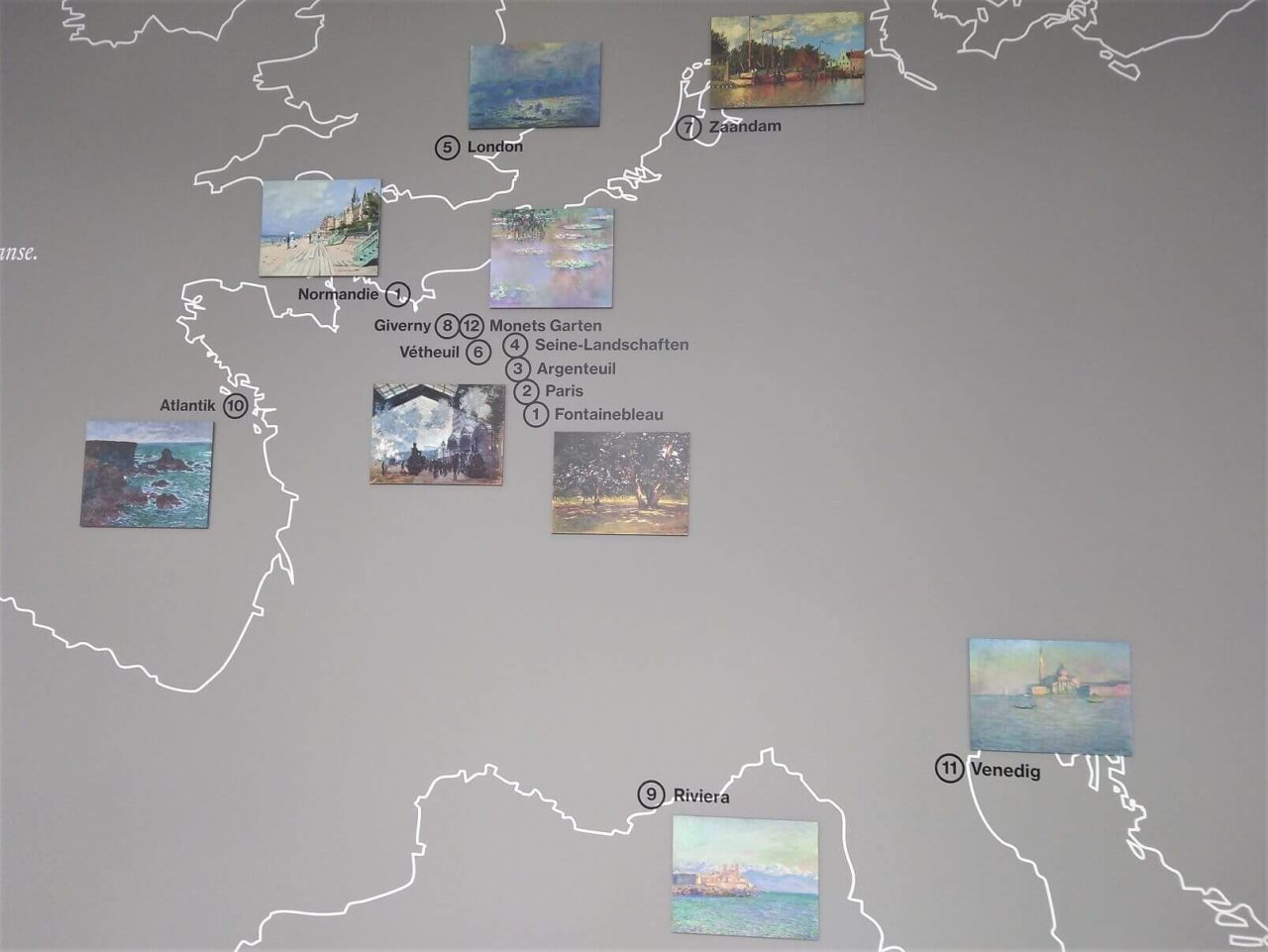 Karte mit einer Übersicht der Orte