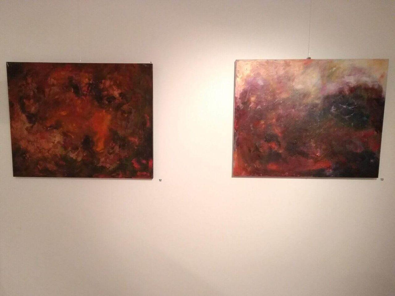 Margit Ahrens' Werke in der Kulturmetzgerei für die Ausstellung Kunstpunkte
